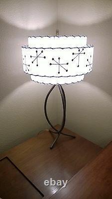 Mid Century Vintage Style 3 Tier Fiberglass Lamp Shade Modern Starburst White