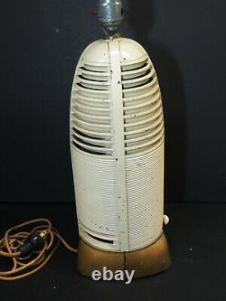 Mitchell LUMITONE Art Deco Bakelite Tube RADIO-LAMP vtg Rocket Space Age Shade