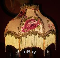 Mitford A Victorian Vintage Traditional Lampshade. Aubergine Purple Floral 14
