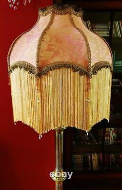 Mitford, Victorian Traditional Vintage Lampshade. Creamy Pink Brocade. 18