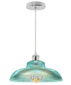 Modern Vintage Industrial Loft Glass Ceiling Lamp Shade Pendant Light M0216