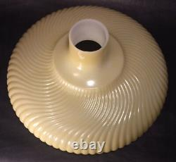 New 14 Antique Style Rib Swirl Nu-Gold Torchiere Lamp Shade Made in USA TS000