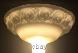 New 16 Antique Style Embossed Roses Nu-Gold Torchiere Floor Lamp Shade USA #028