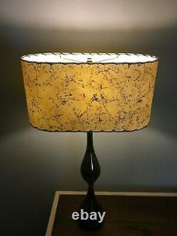 OVAL Mid Century Vintage Style Fiberglass Lamp Shade Modern Atomic #2
