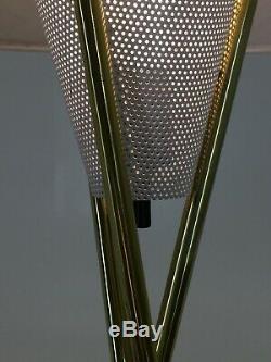 Original Tripod Table Lamp Shade Gerald Thurston Lightolier vintage mcm
