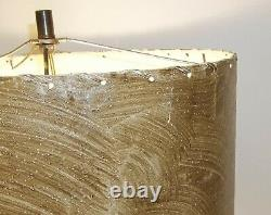 Original Vintage Mid Century Modern Atomic Hour Glass Table Lamp with Shade