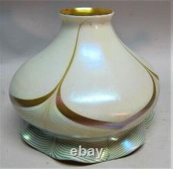 Oversized STEUBEN 7 x 6 Art Glass Shade for Floor Lamp c. 1915 antique