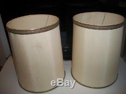 PAIR (2) Vintage STIFFEL Drum Lamp SHADES