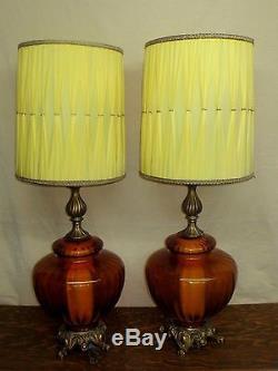 Pair Vintage Midcentury Retro 1972 Ef Ef Industries Lamps