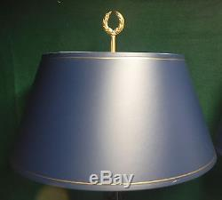 Pair Vintage Neoclassical Table Lamps Lights 3- way Switch with Shades
