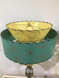 Pair of Mid Century Vintage Style Tapered 3 Tier Fiberglass Lamp Shades Modern