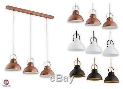 Pendant 3 lights Ceiling Light Copper Vintage Lampshade Industrial Retro Modern