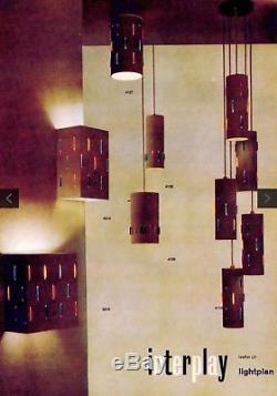 Rare 50s Original Vintage Mid century John & Sylvia Reid for Rotaflex lampshade