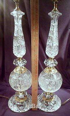 Brass Crystal Wall Sconce