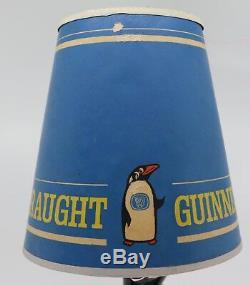 Rare Vintage Carlton Ware Guinness Penguin Lamp & Shade. Carltonware