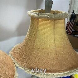 Rare Vintage Chalkware Lamp Mid Century Elf Pixie Mushroom Kitsch 50s Large