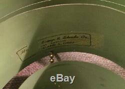 Rare Vintage Green Venetian Metal 8 Tier Tri-foil Lamp Shade MID Century Modern