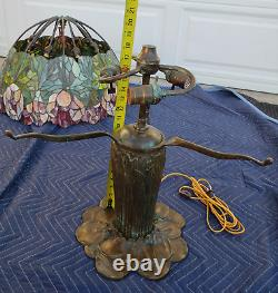 Reproduction of Antique Tiffany Studios Handel Style 3 Arms 20 Shade Lamp Base