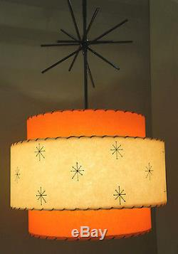 Retro vintage style 3 tier fiberglass lamp shade mid century modern retro vintage style 3 tier fiberglass lamp shade mid century modern atomic aloadofball Image collections