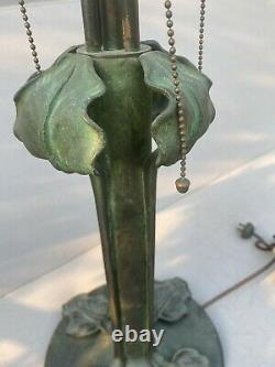 Riviere Lamp Base, Leaded, Slag Shade, Tiffany Studios, Arts Crafts, Handel Lamp Era