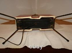 Set Of 3 Vintage Atomic MID Century Ceramic & Fiberglass Shade Lamps