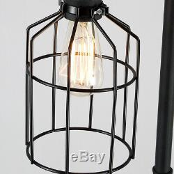 Steampunk Floor Lamp Light Industrial Rustic Wire Cage Shade Foot Pedal Vintage