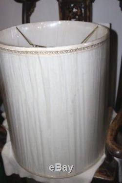 Stiffel Silk Fabric Drum Lamp Shade Vintage Mid Century Hollywood Regency NEW