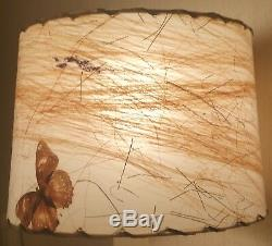 TINY van briggle pottery butterfly parchment desk lamp shade vtg table art mcm