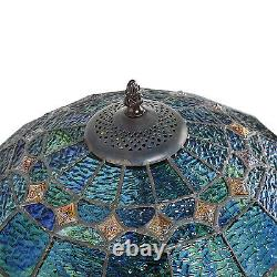 Tiffany Style Handcrafted Blue Vintage Table Lamp 16 Shade