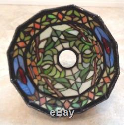 Tiffany Vintage Style Stained Glass Lamp Shades 10 Arms Bulb Chandelier