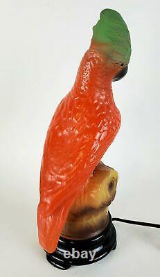 Tiffin Parrot Lamp Vintage Art Deco Table Light Figural Shade Old Boudoir Bird