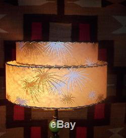 Vintage 1950s atomic fiberglass mid century lamp shade two tier vintage 1950s atomic fiberglass mid century lamp shade two tier starburst wow aloadofball Choice Image