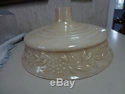 Vintage antique embossed glass torchiere floor lamp shade excellent aloadofball Image collections