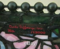 VINTAGE DALE TIFFANY LAMP SHADE 2 STAINED GLASS ART FLORAL Signed Numbered