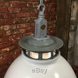 Vintage Industrial Pendant Light Thorlux Enamel Factory Lamp Amp Shade Edison