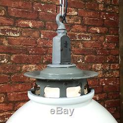 Vintage Industrial Pendant Light Thorlux Enamel Factory