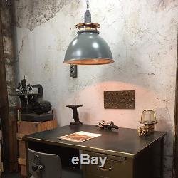 Vintage Industrial Pendant Light Thorlux Enamel Factory Lamp