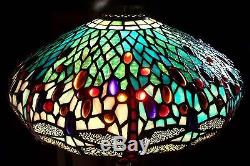 Vintage tiffany style stained glass dragonfly lamp shade 404 vintage tiffany style stained glass dragonfly lamp shade 404 mozeypictures Image collections