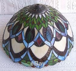 Vintage tiffany style stained glass lamp shade 312 aloadofball Gallery