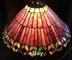 Vintage tiffany style stained glass lamp shade 320 mozeypictures Gallery