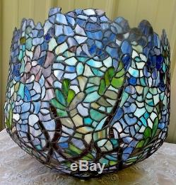 Vintage tiffany style stained leaded glass wisteria lamp shade multi vintage tiffany style stained leaded glass wisteria lamp shade multi pastel aloadofball Gallery