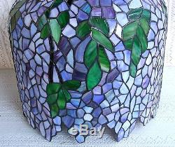 Vintage tiffany style wisteria stained glass lamp shade 400 mozeypictures Image collections