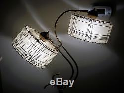 Vtg 50s Z Majestic Floor Lamp Fiberglass Shades Mid