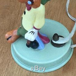 VTG Joe Carioca Parrot Walt Disney Productions Ceramic Table Lamp WithOrig. Shade