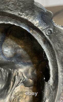 VTG L & L WMC Cherub Bronze Parlor 15 Lamp Speckled Dome Glass Shade Beaded