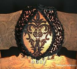 Victorian bed lamp vintage reading light headboard light, Black & Bronze bedlamp