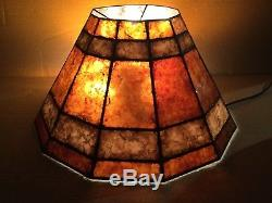 Vintage 1920s 30s Mica Lamp Shade Rindsberger Chicago Large 20 Very Nice Shade