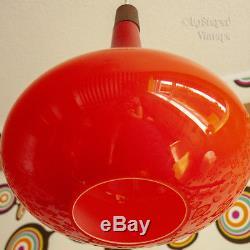 Vintage 1960s/70s Large Orange Scandinavian Art Glass Ceiling Light FREE UK P&P