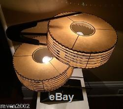 Vintage 50s Majestic Z Boomerang Lamp Fiberglass Shades Mid Century Modern Retro