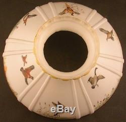Vintage Aladdin Lamp Shade Geese Pheasants Guinea Hens